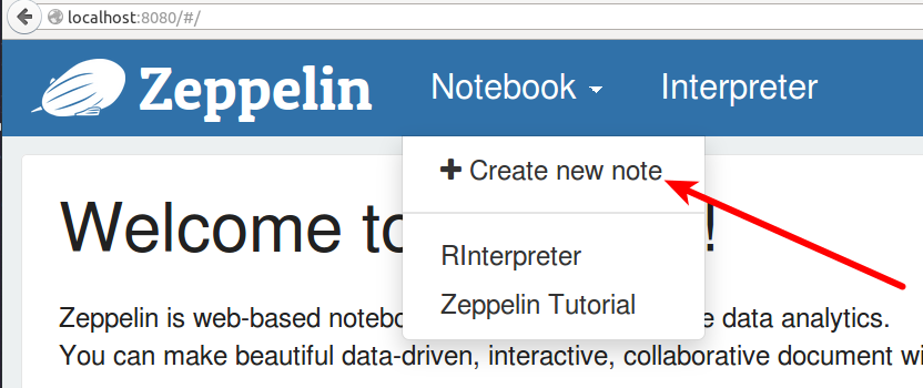 Interactive Data Science with R in Apache Zeppelin Notebook